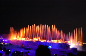 Singapore, lights and water show, Sentosa, Songs of the Sea